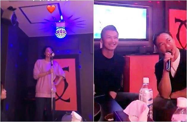 谢霆锋王菲现身KTV欢唱 男方嘴上甜笑眼里都是爱